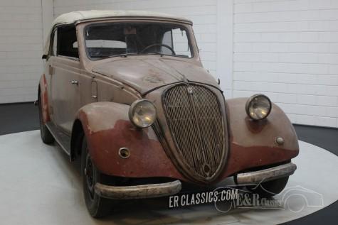 Barnfind 6-cyl NSU-Fiat 1500 Gläser Cabriolet 1938 till salu