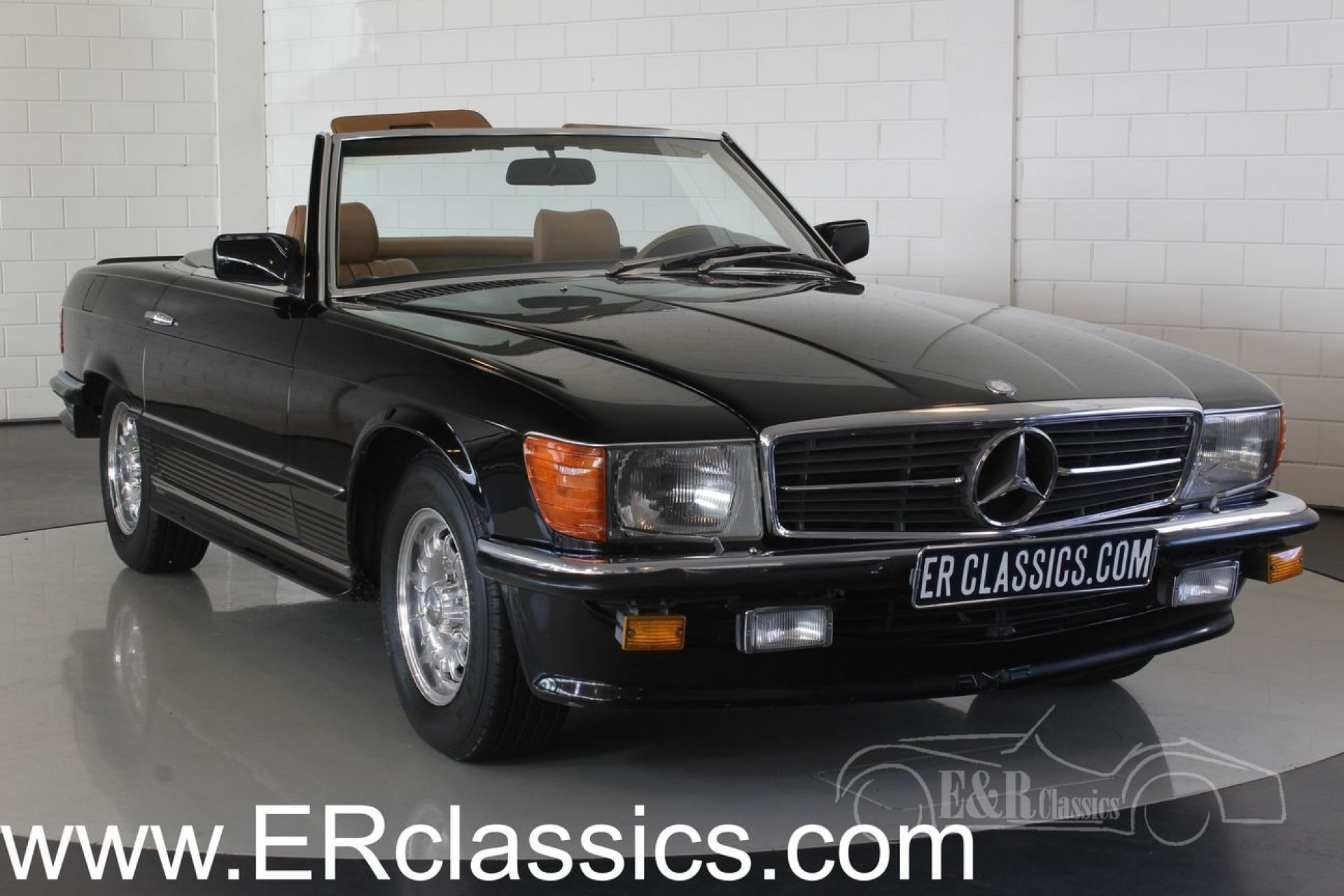 mercedes benz 380 sl cabriolet 1985 for sale at erclassics. Black Bedroom Furniture Sets. Home Design Ideas