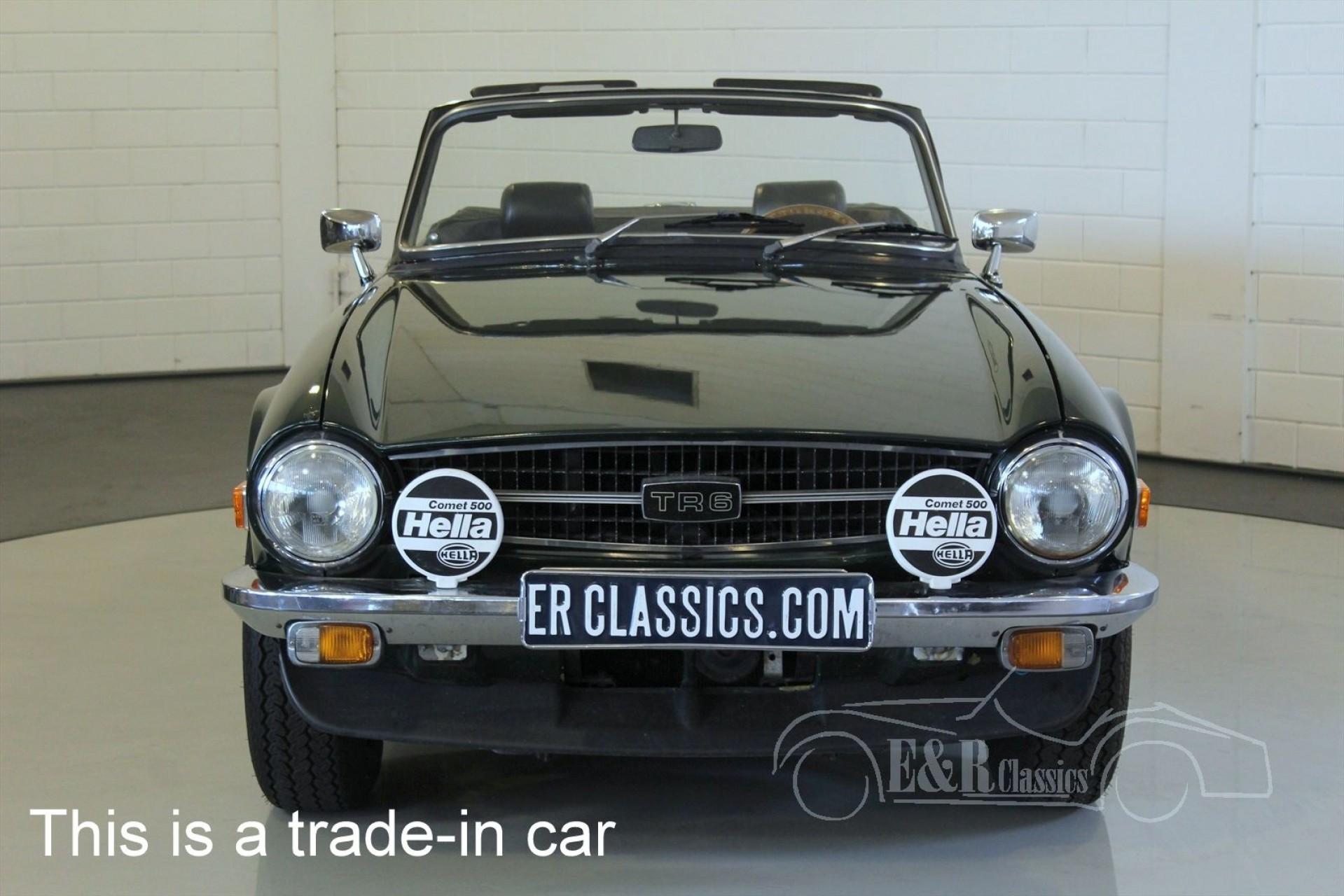 Triumph TR6 Roadster 1971 for sale at ERclassics